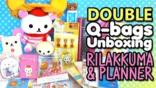 getlinkyoutube.com-Double The Kawaii!! Q-bags Unboxing San-X Rilakkuma and Planner Themes | Monthly Subscription Boxes