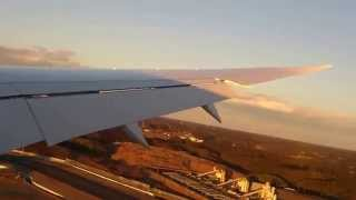 getlinkyoutube.com-エアカナダ 成田国際空港 34R強風着陸! B787-8機窓