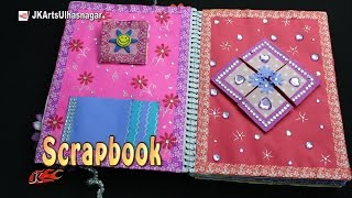 getlinkyoutube.com-How to make a Scrapbook | DIY Easy Scrapbook from Spiral Notebook | JK Arts 1136