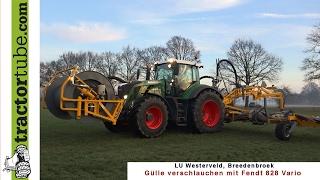 getlinkyoutube.com-Verschlauchen mit Fendt 828 Vario durch LU Westerveld