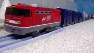 getlinkyoutube.com-プラレール貨物列車18 【雪の中の貨物列車】 Plarail Freight Trains 18