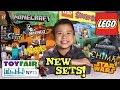 NEW 2015 LEGO SETS!!! NY Toy Fair - Minecraft, Scooby Doo, Chima, Ninjago, Star Wars, Jurassic World