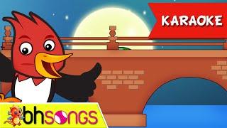 getlinkyoutube.com-London Bridge is Falling Down lyrics intrumental karaoke song | Nursery Rhymes | Ultra HD 4K Video