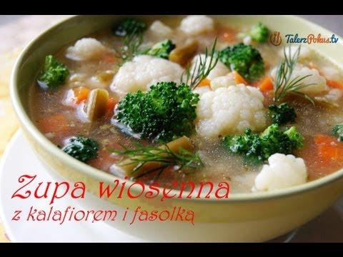 Zupa wiosenna z kalafiorem i fasolką