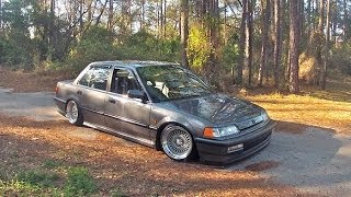 getlinkyoutube.com-STANCE: Clean and Low 1990 Civic Sedan