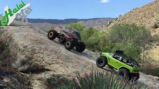 getlinkyoutube.com-Extreme Rock Crawling 1 @ Piru Creek : Rockslide + Deadbolt