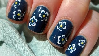 getlinkyoutube.com-Little flowers using dotting tool - Małe kwiatki - Basevehei