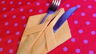 getlinkyoutube.com-Красиво сложить бумажные салфетки 2. How to fold napkins.