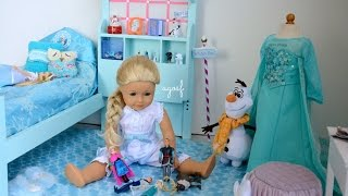 getlinkyoutube.com-American Girl Doll Disney Frozen Elsa's Bedroom ~ Watch in HD!