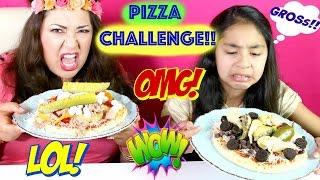 getlinkyoutube.com-PIZZA CHALLENGE!! With GROSS!! Ingredients SARDINES COOKIES PICKLES |B2cutecupcakes