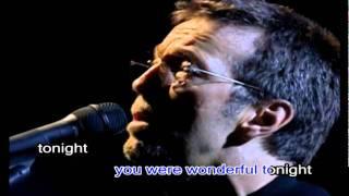 getlinkyoutube.com-Eric Clapton Wonderful Tonight(karaoke)