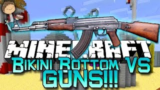 getlinkyoutube.com-Minecraft: Bikini Bottom VS GUNS! Modded Mini-Game w/Mitch & Friends!