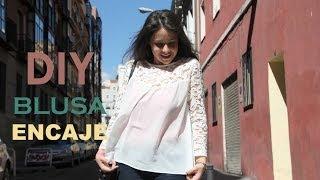 getlinkyoutube.com-DIY Blusa de gasa y encaje (patrones gratis de ropa mujer)