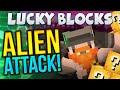 Minecraft - Lucky Block Challenge - Alien Attack (Round 2)