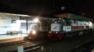 getlinkyoutube.com-KA Serayu Malam Berangkat dari Jalur 1   CC 2039812 di Jalur 3