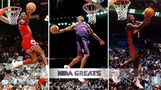 getlinkyoutube.com-Top 10 NBA Slam Dunk Contest Dunks of ALL TIME - Michael Jordan, Vince Carter, Dwight Howard