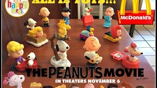 getlinkyoutube.com-The PEANUTS Movie MCDONALDS Happy Meal Toys October 2015! All 12!!!