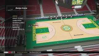 getlinkyoutube.com-NBA 2K17 Arena Creation: Seattle SuperSonics 2001 - 2008 (KeyArena)