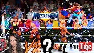 6 Women Battle Royal vs YOUTUBERS / YouTube WrestleMania! WWE 2K17