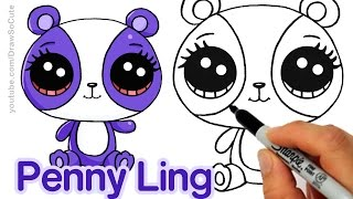 getlinkyoutube.com-How to Draw LPS Penny Ling step by step Easy - Littlest Pet Shop Panda