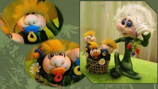 getlinkyoutube.com-Мастер-класс Елены Лаврентьевой по кукле в скульптурно-текстильной (чулочной ) технике