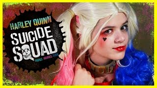 getlinkyoutube.com-HARLEY QUINN Suicide Squad MAKEUP TUTORIAL! | DIY HALLOWEEN COSPLAY COSTUME  |  KITTIESMAMA