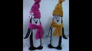 getlinkyoutube.com-Pinguim de Garrafa Pet