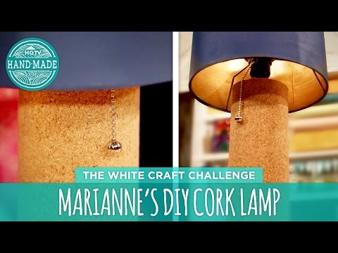 Marianne's DIY Cork Lamp - HGTV Handmade White Craft Challenge