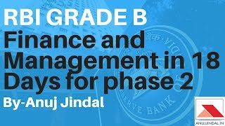 RBI Grade B- what to do in Finance and Management in 18 days for phase 2