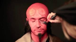 getlinkyoutube.com-Hellboy Makeup Tutorial (live)