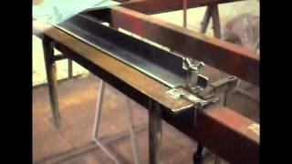 Простой самодельный листогиб/Simple homemade sheet metal brake
