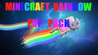 getlinkyoutube.com-200 Subs Special - Minecraft Rainbow PVP Texture Pack [Sick Flame, and Bow]
