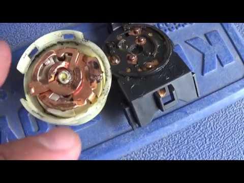 Ремонт контактной группы замка зажигания Mitsubishi Lancer 9. Проблема со стартером.