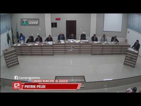 Vereador Patrik Pelói na sessão da Câmara Municipal de Goioerê desta segunda-feira, 12