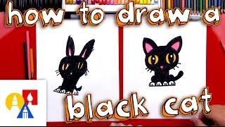 getlinkyoutube.com-How To Draw A Cartoon Black Cat