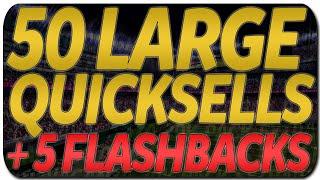 #MUT15 | 50 Large Quicksell Bundle & 5 Flashback Pack Opening!!! | #30KPackExtravaganza