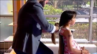 getlinkyoutube.com-الطفلة جنى تقص شعرها على الهواء وتتبرع به لمرضى السرطان