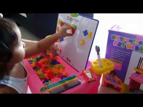Mainan Edukasi Anak 3 Tahun Multifunctional Art Desk 4 In 1