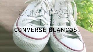 getlinkyoutube.com-Como lavar converse blancos- PAUDUB