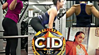CID EP -1486 cid officer purvi hot workout must watch you like it SUBSCRIBE