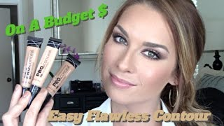 getlinkyoutube.com-Easy Flawless Contour & Highlighting On A Budget Using LA Girl Pro Concealer!