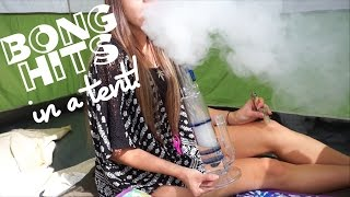 Smoking in a Tent w/ Friends! (ThickAssGlass)