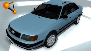 getlinkyoutube.com-BeamNG.Drive Mod : Audi 100 C4 quattro 1992 Beta (Crash test)