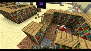 getlinkyoutube.com-Minecraft enchanting best bookshelf layout possible