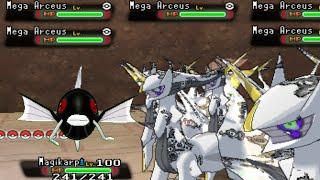 getlinkyoutube.com-Shadow Mega Magikarp VS Horde of Mega Arceus - Pokemon Omega Ruby / Alpha Sapphire (Hack)