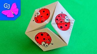 getlinkyoutube.com-Волшебное Кольцо оригами из бумаги