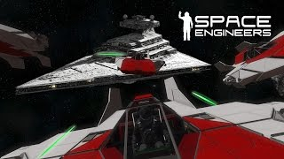 getlinkyoutube.com-Space Engineers - Red Squadron - Attack On the Imperial Fuel Supply