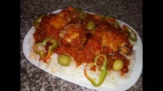 getlinkyoutube.com-شهيوات ام وليد دجاج بالطماطم و الارز