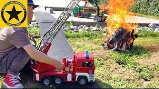 BRUDER Toys FIRE TRUCK real Action played by Jack Jack