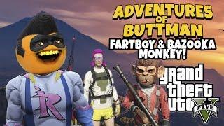 getlinkyoutube.com-Adventures of Buttman #9: Fartboy and Bazooka Monkey! (Annoying Orange GTA V)